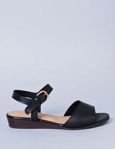 Roma wedge ankle strap sandal