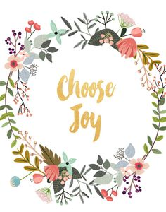 Choose Joy Printable Art Inspirational Print by PaperStormPrints