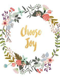 Choose Joy Printable Art Inspirational Print by PaperStormPrints