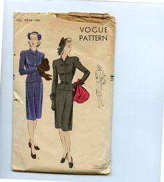 Vintage 1930s Misses Suit Vogue Pattern by VioletCrownEmporium, $30.00
