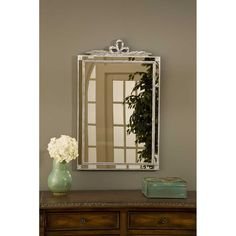 Hickory Manor House Old World Mirror with Side Glass in Shimmer