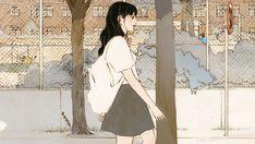 Mini Drawings, Art Drawings, Aesthetic Anime, Aesthetic Art, Romance Art, Cute Gif, Beauty Art, Cartoon Art, Art Girl