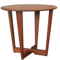 Vintage Teak Danish Modern Round Side Table - $590.