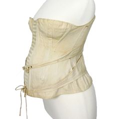 Ephemeral Elegance  Maternity Corset, ca. 1892  Royal Worcester Corset Company  via Antique Dress