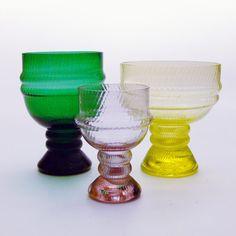 Vintage glass by Nanny Still (Riihimäki Lasi, Gold Glass, Glass Art, Vintage Kitchenware, Glass Design, Scandinavian Design, Retro, Finland, Stained Glass, Tableware
