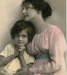 Today I'm offering this beautiful Vintage French Mother's Day Image! This is an Antique Photo Postcard showing a Mother with her child.