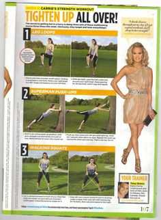 Tighten Up All Over Workout (week 3) - Seventeen Magazine