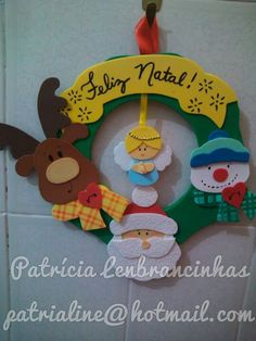 Guirlanda Christmas Crafts, Merry Christmas, Christmas Ornaments, Dollar Stores, Ideas Para, Diy And Crafts, Holiday Decor, Biscuit, Door Hangings