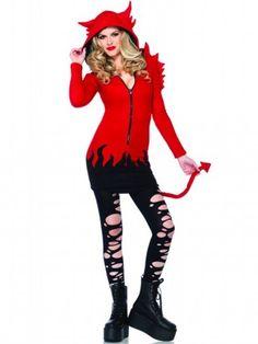 "Women's ""Cozy Devil"" Costume by Leg Avenue (Red) - 1"