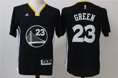 Mens Golden State Warriors  23 Draymond Green Adidas Black NBA Alternate Jersey  Golden State Warriors dcdbce88f
