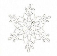crochet snowflake chart - Google Search