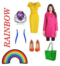 """""""Rainbow"""" by julie-lg on Polyvore featuring Christian Louboutin, Kate Spade, MICHAEL Michael Kors, Baccarat and Journee Collection"""