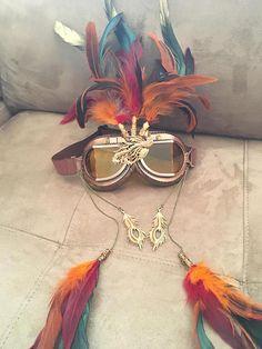LAST PAIR Burning Man Goggles Steampunk Goggles Phoenix