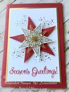 Christmas Cards Drawing, Christmas Card Crafts, Christmas Hearts, Homemade Christmas Cards, Stampin Up Christmas, Christmas Cards To Make, Christmas Greeting Cards, Christmas Greetings, Homemade Cards