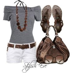 Summer outfit bronze metallic