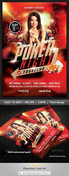 Casino Flyer Template V1 Flyer template and Template - movie night flyer template