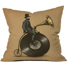 Dot & Bo Music Man Throw Pillow Cover found on Polyvore