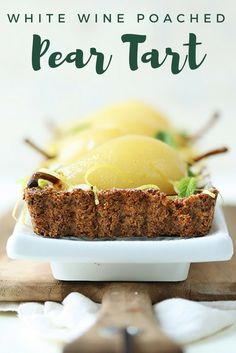 This White Wine Poached Pear Tart with Frangipane is a delicious fall dessert you need to try | the INSPIRED home