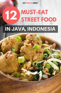 Indonesian Food: 12 Must-Eat Street Food Dishes in Java & Where To Try Them - List of the best food recipe Asian Recipes, Mexican Food Recipes, Healthy Recipes, Ethnic Recipes, Healthy Food, Asian Foods, Indonesian Cuisine, Indonesian Recipes, Koh Tao