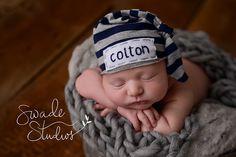 newborn personalized knot hat, baby boy hospital hat by LittleOnesLove on Etsy https://www.etsy.com/listing/263615871/newborn-personalized-knot-hat-baby-boy