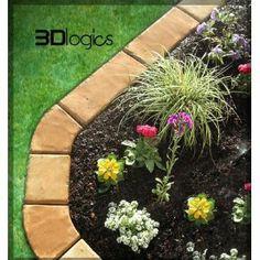 4 Piece Set Edge Paver Concrete Mold Includes 45 Degree Concrete Refinishing, Yard Edging, Brick Edging, Backyard Landscaping, Backyard Ideas, Outdoor Ideas, Outdoor Stuff, Patio Ideas, Landscaping Ideas
