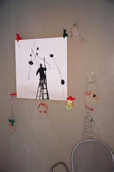 Wire art inspired by Alexander Calder - for kids