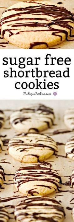 Sugar Free Shortbread Cookies- #sugarfree #cookies #shortbread #recipe #easy #chocolate