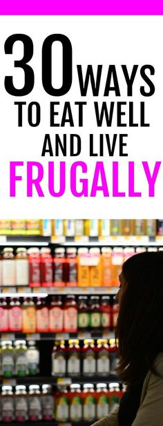 30 Ways to Save on Groceries while Eating Well Easy tips to slash your spending on groceries. Tons of ideas for saving money at the grocery store. If you want to live a frugal live, these tips and tricks will help you save money on food expenses. Frugal Living Tips, Frugal Tips, Frugal Meals, Budget Meals, Food Budget, Frugal Recipes, Budget Binder, Food Cost, Easy Budget