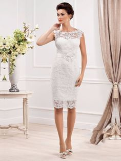Cheap dress evening gowns, Buy Quality dress school girls games directly from China gown pageant Suppliers: Elegant Sheer Scoop Neckline Short Wedding Dresses 2015 Sexy Vestidos De Novia Curto Cheap Lace Bridal Gown Cus Wedding Dresses 2014, Cheap Wedding Dress, Sheer Dress, Belted Dress, Bridal Lace, Bridal Gowns, Lace Wedding, Short Bride, Robes Vintage