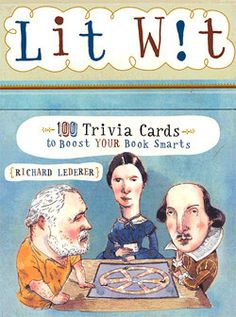 """Lit Wit. If you're """"book smart,"""" or just want to be, these literary-themed trivia cards will challenge you. Broken into categories including Book Titles, Authors and Genres, this set of 100 cards helps parse the difference between a casual bookworm and a bona fide Lit Wit. For ages 10 and up. – Library of Congress Shop"""