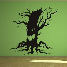 Scary Halloween Tree Wall Art Sticker Wall Decals