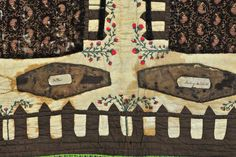 Detail of the Graveyard Quilt border. The 1843 quilt is on display at the Kentucky Historical Society through December 2016.