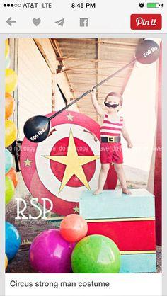 Strongman circus baby