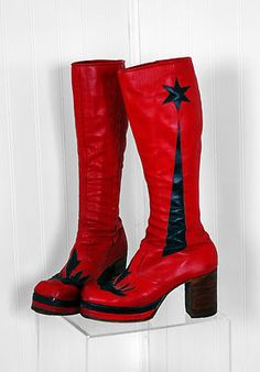 70s platform boots where very big women would wear them with skirts