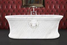 Hurlingham the Bath Company - Simba Marble Bath, Marble Bath, Clawfoot Bathtub, Hand Carved, Carving, Baths, Basement, Bathrooms, Products, Clawfoot Tub Shower
