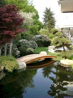 Modern Gardening modern Garden by Kirchner Garten Teich GmbH - There is something unequivocally calming about a Japanese garden. To help bring their positive effects into your life, check out our ideabook here. Japanese Garden Design, Home Garden Design, Modern Garden Design, Japanese Gardens, Zen Gardens, Modern Gardens, Modern Pond, Contemporary Garden, Japanese Garden Landscape