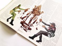 The Diplomat Magazine Editorial Illustrations by Jason Fields, via Behance