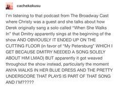 Anastasia Broadway, Anastasia Movie, Anastasia Musical, Princess Anastasia, Broadway Theatre, Music Theater, Christy Altomare, Dear Evan Hansen, Kid Memes