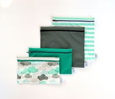 Lunch Bags, Snack Bags, Reusable Bags, Etsy, Couture, Green, Snacks, Unique Jewelry, Bags
