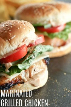 Grilled Chicken Sandwich Marinated Grilled Chicken Sandwich Recipe - an easy and healthy lunch or dinner! Marinated Grilled Chicken Sandwich Recipe - an easy and healthy lunch or dinner! Gourmet Sandwiches, Grilled Chicken Sandwiches, Marinated Grilled Chicken, Chicken Sandwich Recipes, Healthy Sandwiches, Recipe Chicken, Pizza Recipes, Pork Recipes, Dinner Sandwiches