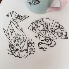 Image result for neo traditional fan tattoo meaning