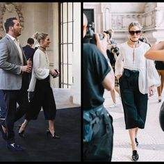 Olivia Palermo style at fashion week September 2017  #style #spring #look #runway #fashion #editorial #europe #riyadh #readytowear #night #redcarpet #london #blogger #shorts #bags #picoftheday #flat #septemper #fun #dubai #celebrity #sunglasses #oliviapalermo