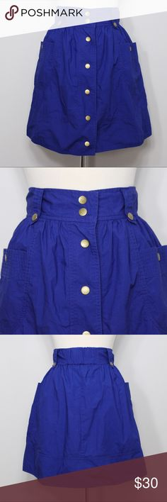 """Kimchi Blue Button Down Skirt Waist: 13"""" (laying flat) Length: 17.5"""" (top to hem)  A super cute skirt in great condition! Snap button closure and snap button pockets. Small stretchy elastic part on the back middle of skirt. No holes, stains or imperfections. Comes from a smoke free environment.  📦Bundles welcome ❌NO trades, please. ⚡️Same/Next day shipping Urban Outfitters Skirts"""