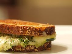 Avocado & Alfalfa Sprouts Grilled Cheese