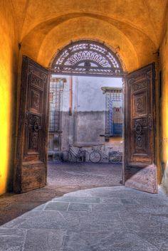 Lucca, Italy ... so many neat doors!!!