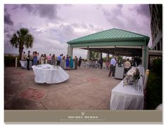 Stunning purple sunset behind our oceanfront pavilion | The Westin Hilton Head Island Resort and Spa