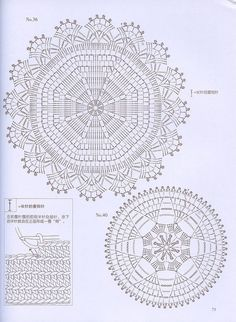 Crochet lace № 60 Crochet Applique Patterns Free, Crochet Coaster Pattern, Crochet Doily Diagram, Crochet Doily Patterns, Crochet Chart, Thread Crochet, Crochet Dollies, Crochet Circles, Crochet Tablecloth