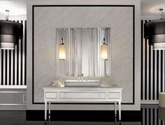 Luxury Italian Bathroom Furniture with Classic Vanities Design, 38 interior & bathroom designs in Modern Italian Bathroom Design gallery Bathroom Furniture, Art Deco Bathroom, Luxury Bathroom Vanities, Bathroom Mirror, Luxury Home Decor, Luxury Bathroom, Italian Bathroom Design, Bathroom Design, Bathroom Mirror Design