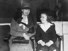 Eleanor Roosevelt & Shirley Temple! The First Lady was certainly and example to follow!