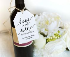Wine Tags Printable Wedding Favor Tags Template Love And Wine